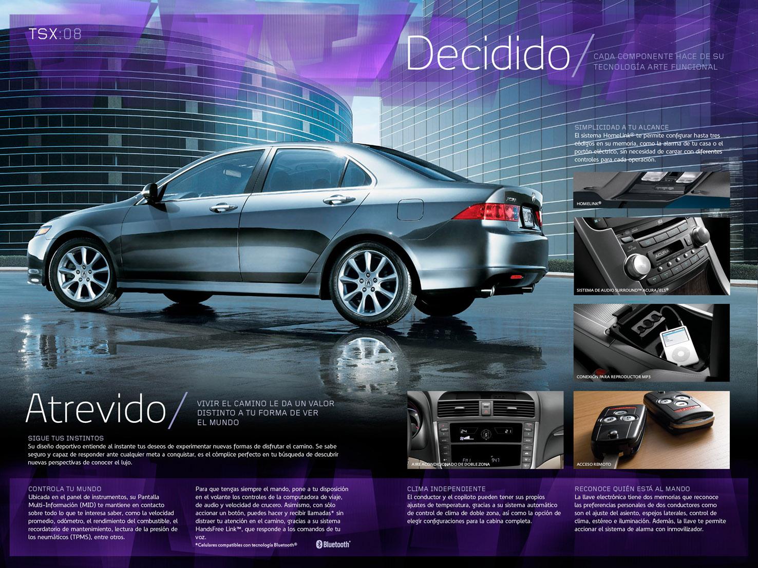Cuadriptico Acura TSX