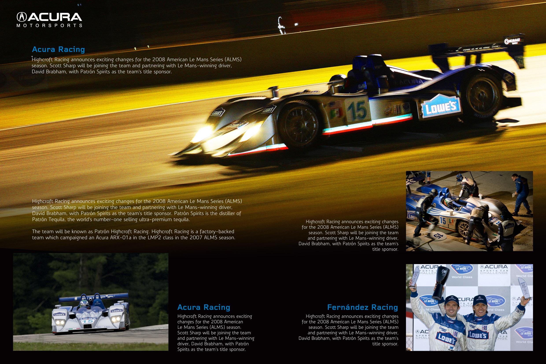 Diptico Acura Motorsports